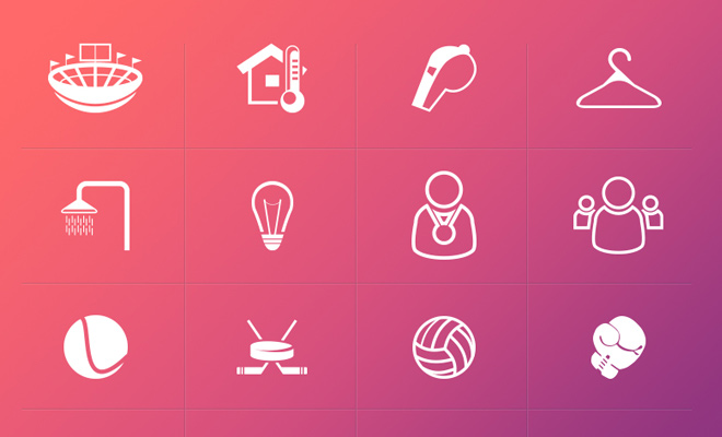 vector sport icons freebie iconset