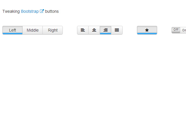 tweak bootstrap user interface buttons