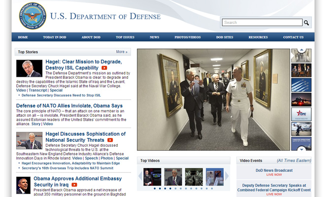 USA united states dept of defense