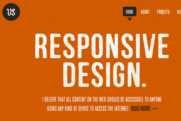 web design portfolio orange layout responsive