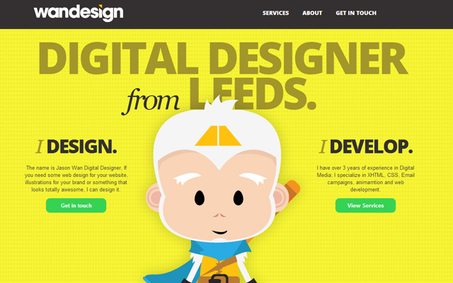 jason wan digital designer interface website homepage