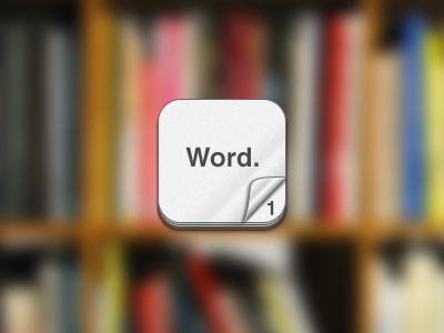 iPhone iOS design app icon word counter