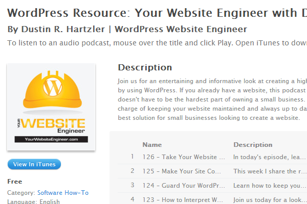 wp wordpress resource itunes podcast radio