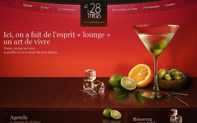 lounge bar website 28theirs red