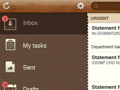 brown leather texture iPad banking app