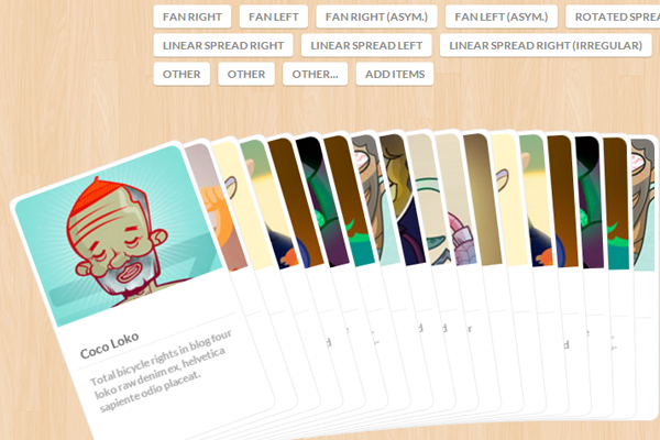 Freebie jQuery plugin sorting cards dynamically website