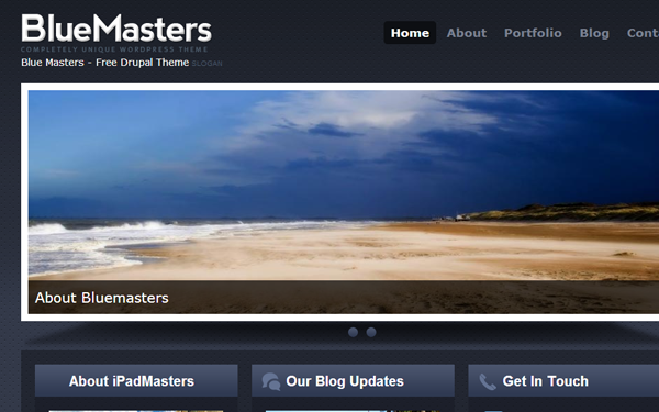 BlueMasters Drupal freebie download theme template display