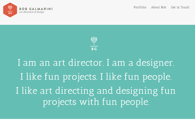 bob galmarini flat website layout design