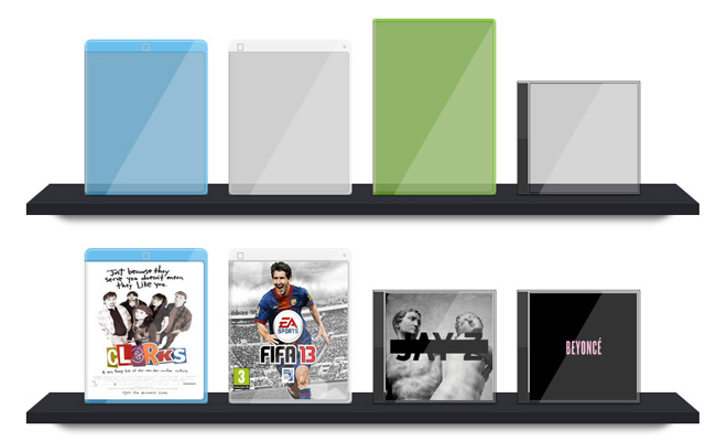 video game dvd cd cover cases effect css3