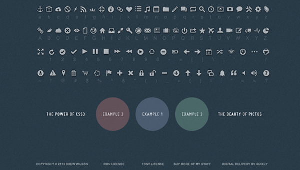 HTML5 display icons and data-attribtues