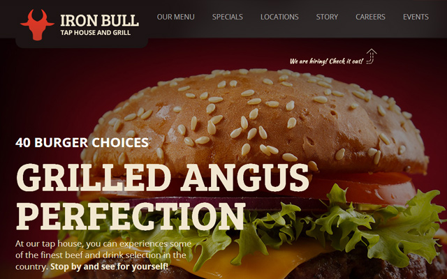 html5 steak bar grill website restaurant template