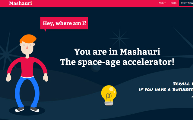 mashauri space age website design flat
