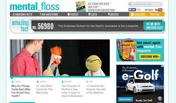 mental floss magazine website