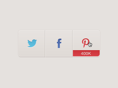 Pinterest sharing buttons design icons