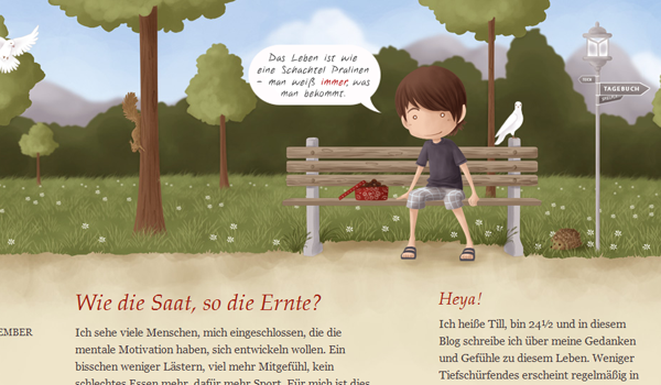 german web design illustration
