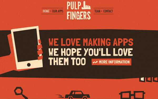 Digital Agency website design pulp fingers
