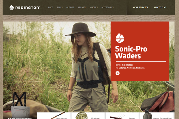 fly fishing equipment Redington website ecommerce