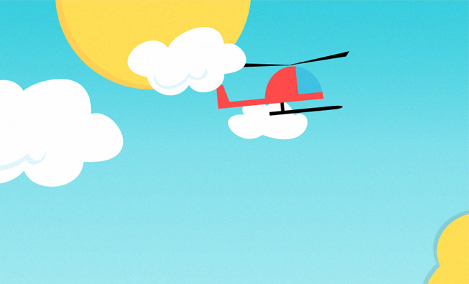 background sky helicopter