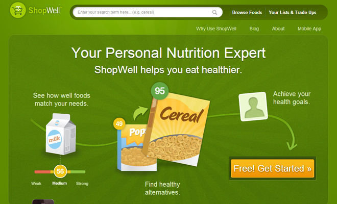 shop well website food cooking website layout