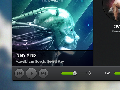 Spotify interface for Mac OS X