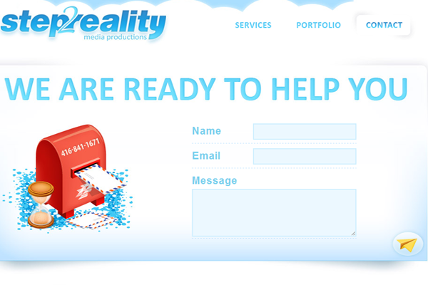 step to reality webpage contact form