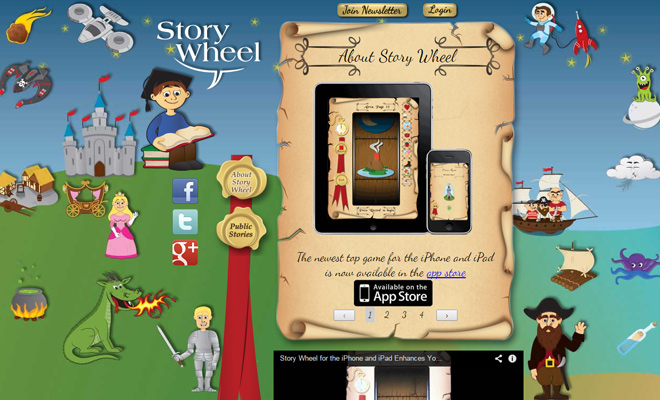 story wheel iphone app landing page