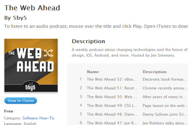 the web ahead podcast show radio