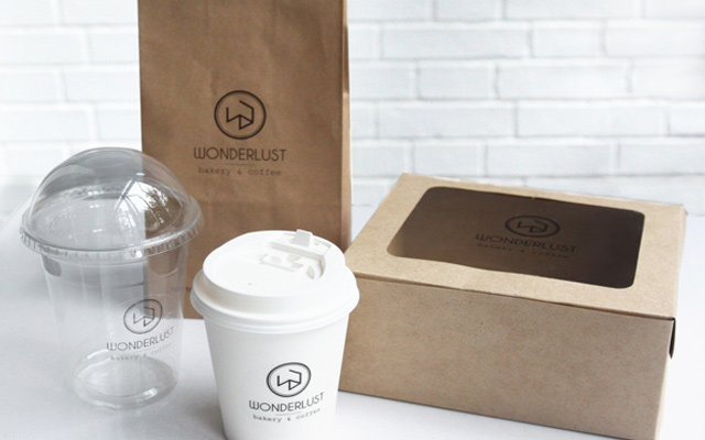 wonderlust bakery coffee branding packaging