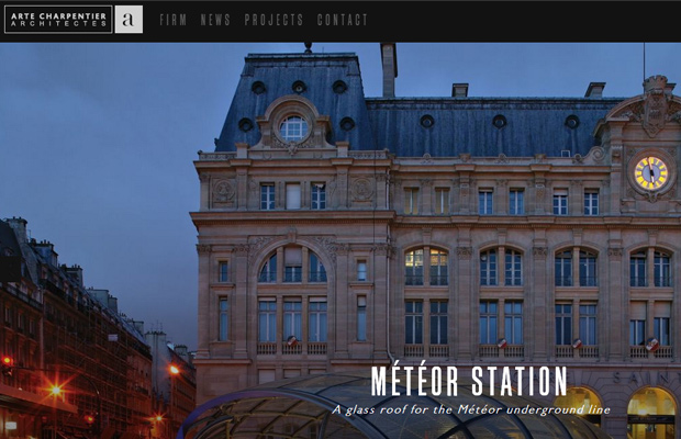 arte charpentier architecture portfolio website layout