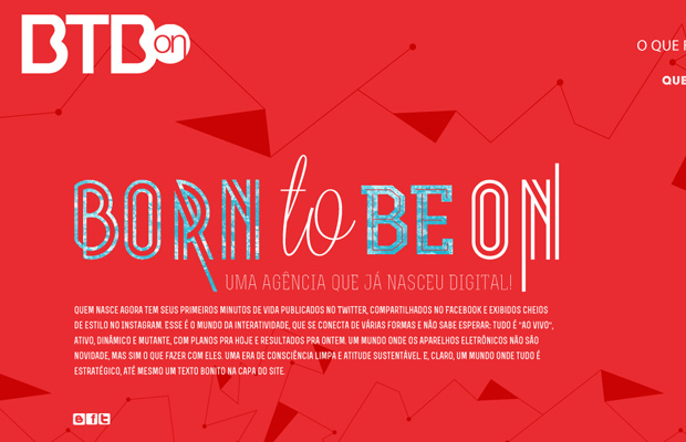 born to be on agency red website layout