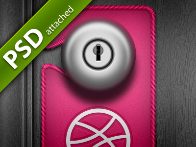 Dribbble do not disturb PSD