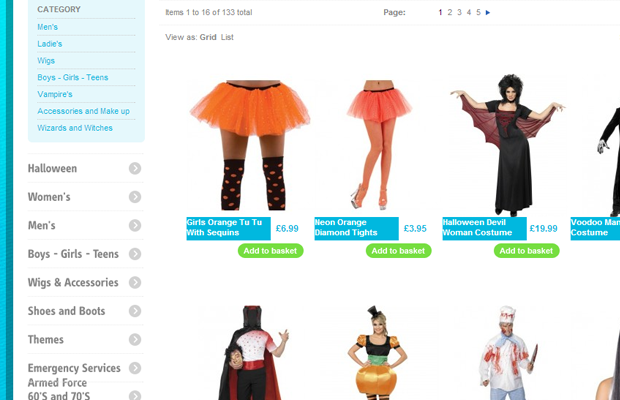 fancy dress time halloween costumes ecommerce