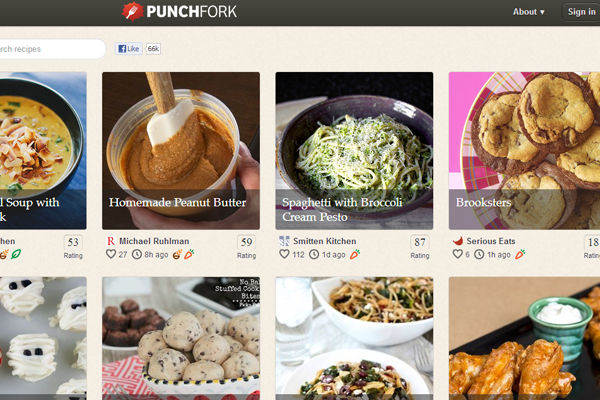social media foodie photos webapp Punch Fork