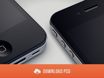 Download freebie psd iPhone 4S