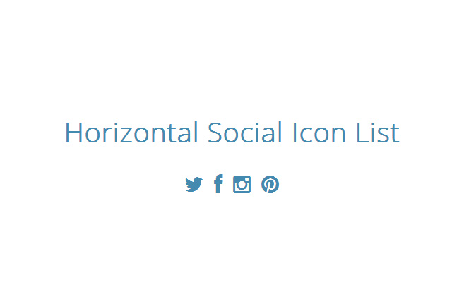horizontal list icons social bootstrap