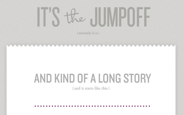 its the jumpoff grey website layout