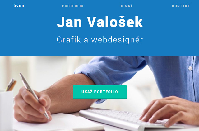 jan valosek portfolio website layout design