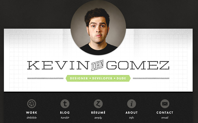 28 personal portfolio websites using portraits and background photos
