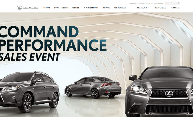 lexus homepage car company website