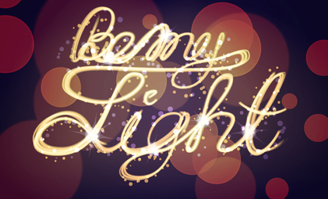 light painting bokeh text effect tutorial
