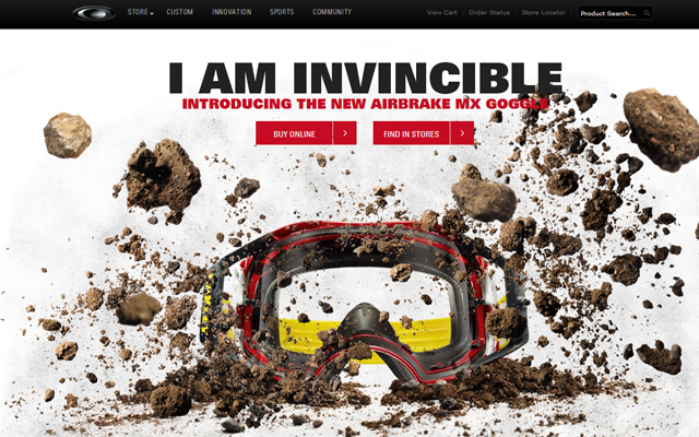 moto oakley website parallax singlepage design