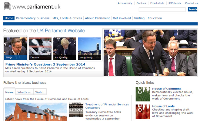 united kingdom parliament website