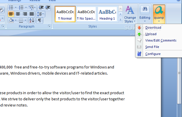 quanp addin microsoft office downloader