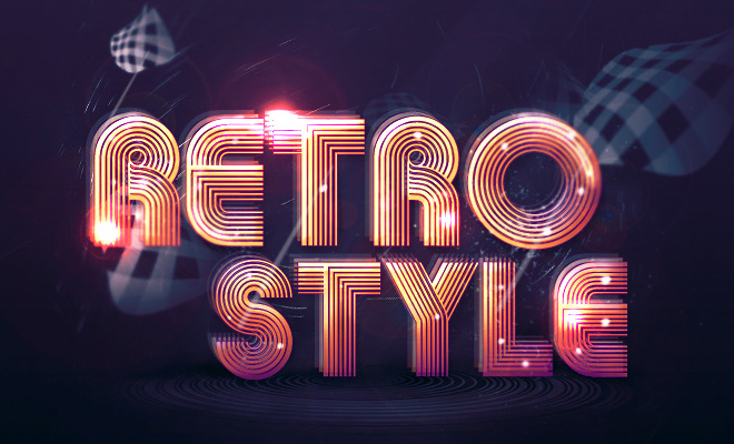 groovy retro text effect tutorial