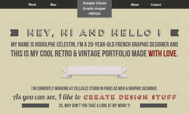 rodolphe celestin graphic design homepage