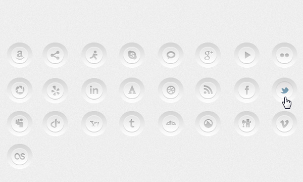 social media buttons css css3 designs