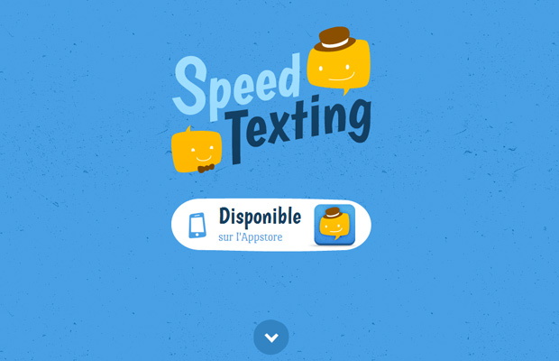 speed texting blue website layout inspiring