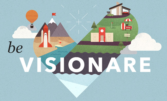be visionare homepage design