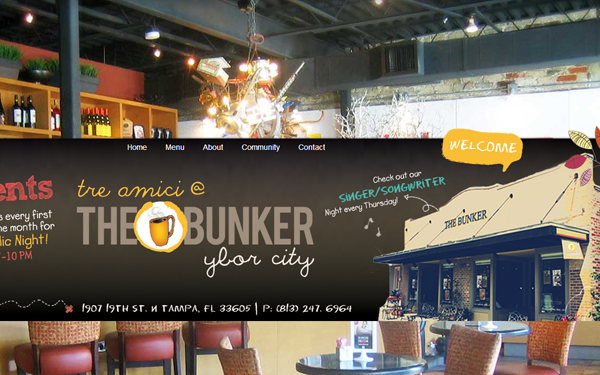 ybor bunker website inspiration cafe designs