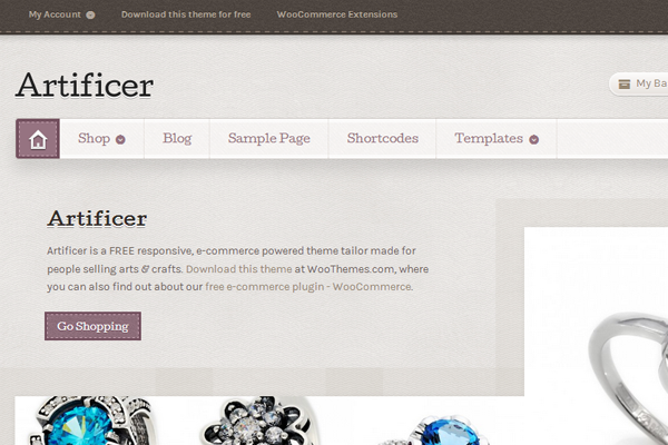 WooThemes WordPress Theme Artificer Ecommerce download